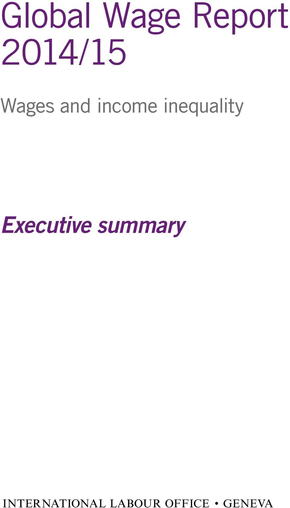 inequality Executive