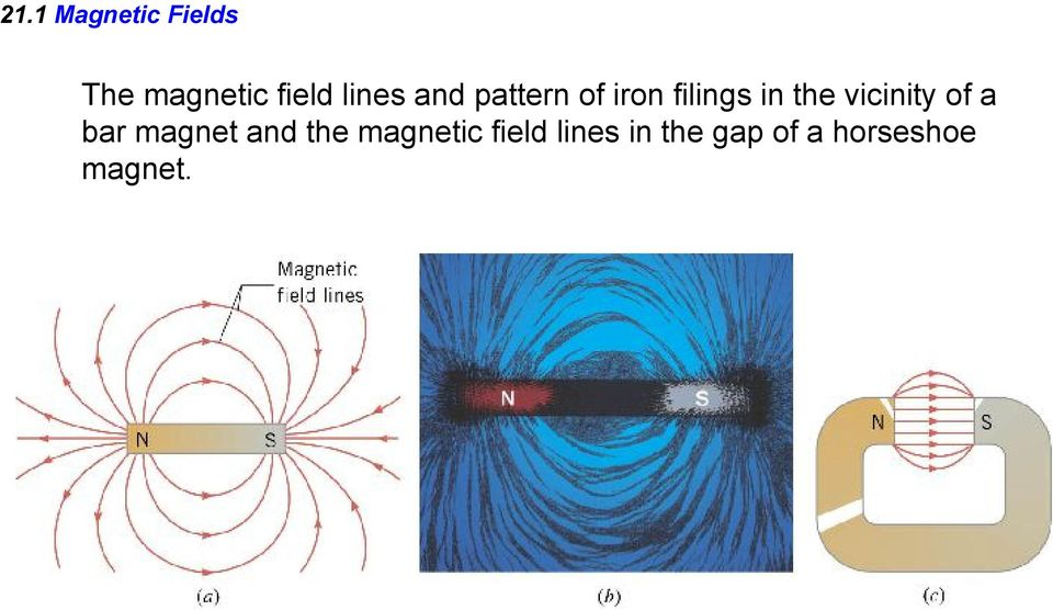 vicinity of a bar magnet and the magnetic