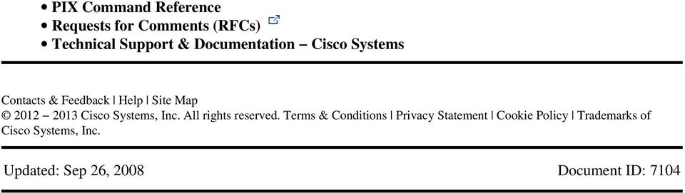 Cisco Systems, Inc All rights reserved Terms & Conditions Privacy Statement