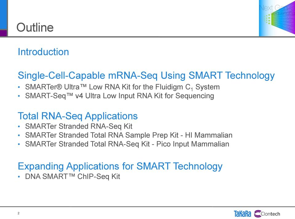 SMARTer Stranded RNA-Seq Kit SMARTer Stranded Total RNA Sample Prep Kit - HI Mammalian SMARTer Stranded