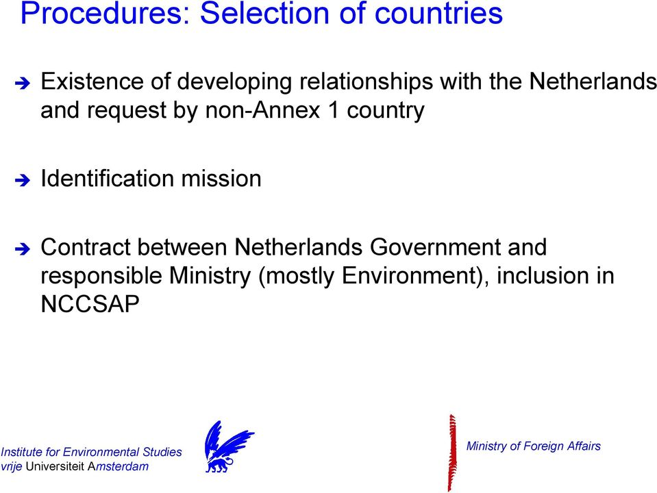 country Identification mission Contract between Netherlands