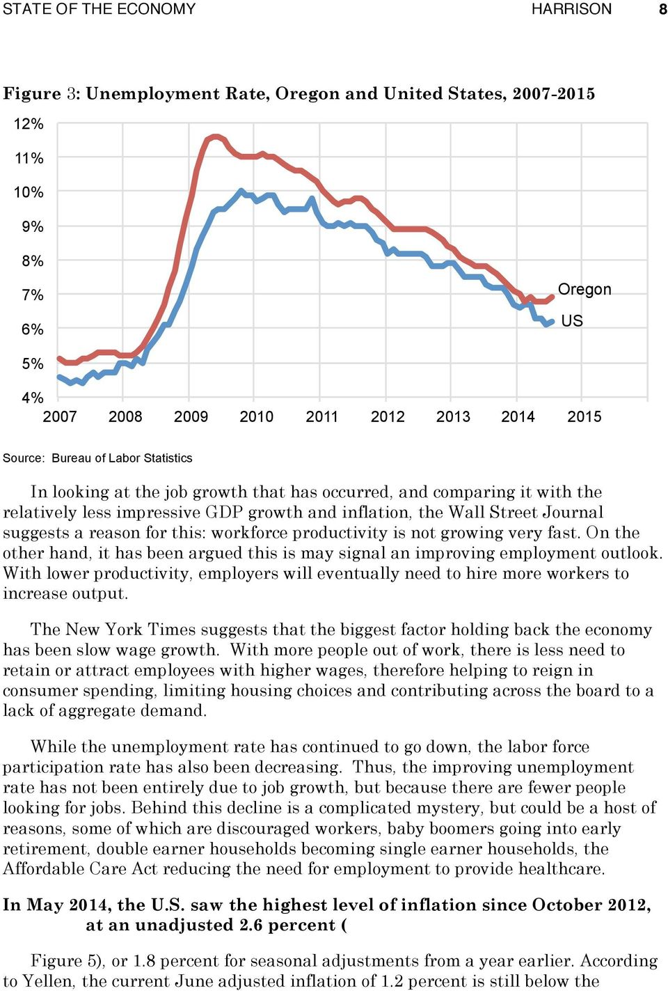 fast. On the other hand, it has been argued this is may signal an improving employment outlook. With lower productivity, employers will eventually need to hire more workers to increase output.