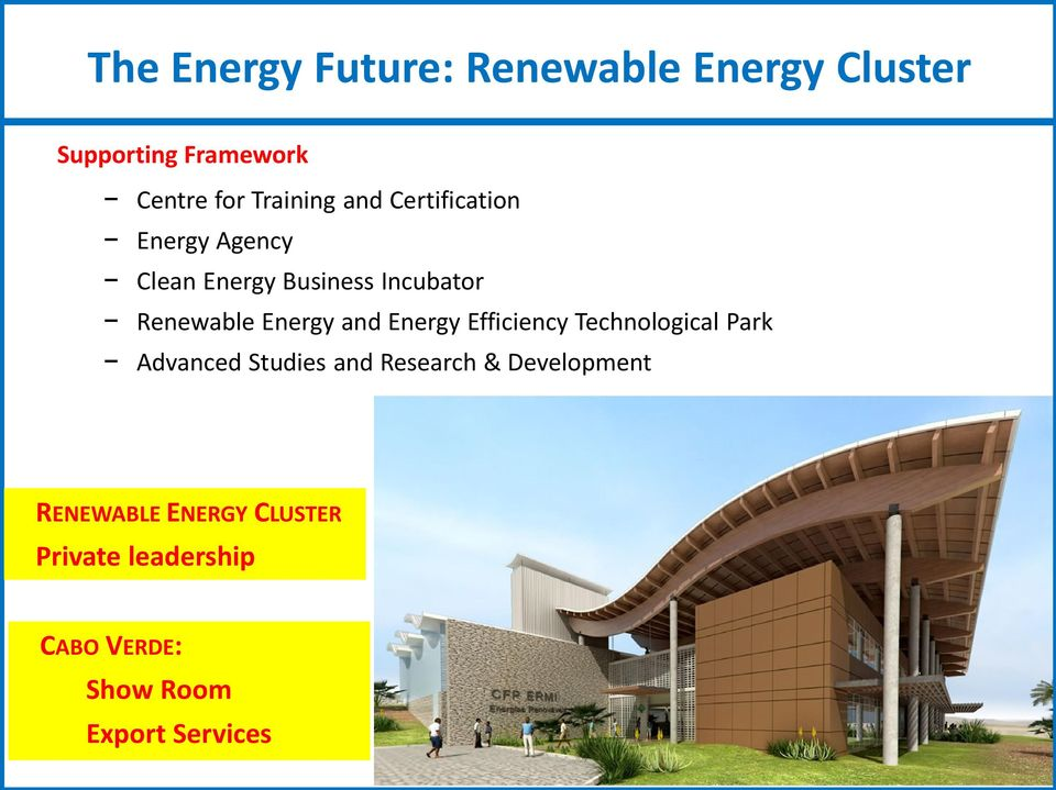 Energy and Energy Efficiency Technological Park Advanced Studies and Research &