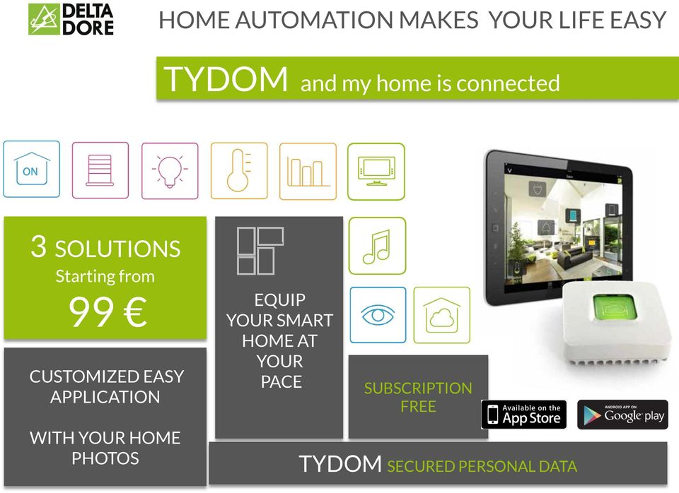 EASY APPLICATION EQUIP YOUR SMART HOME AT YOUR PACE