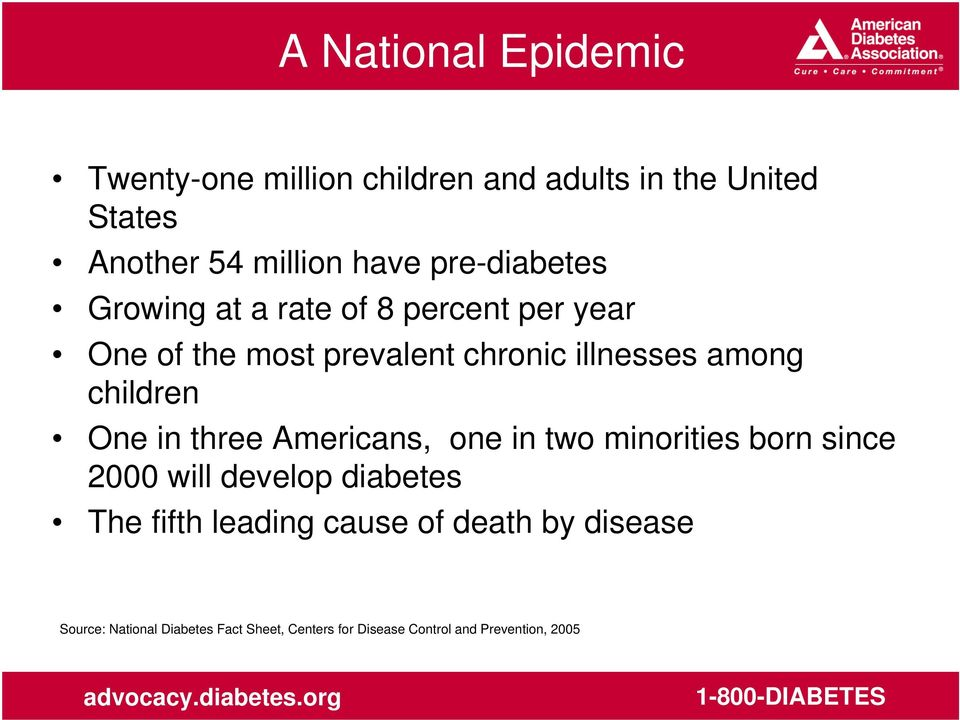 children One in three Americans, one in two minorities born since 2000 will develop diabetes The fifth
