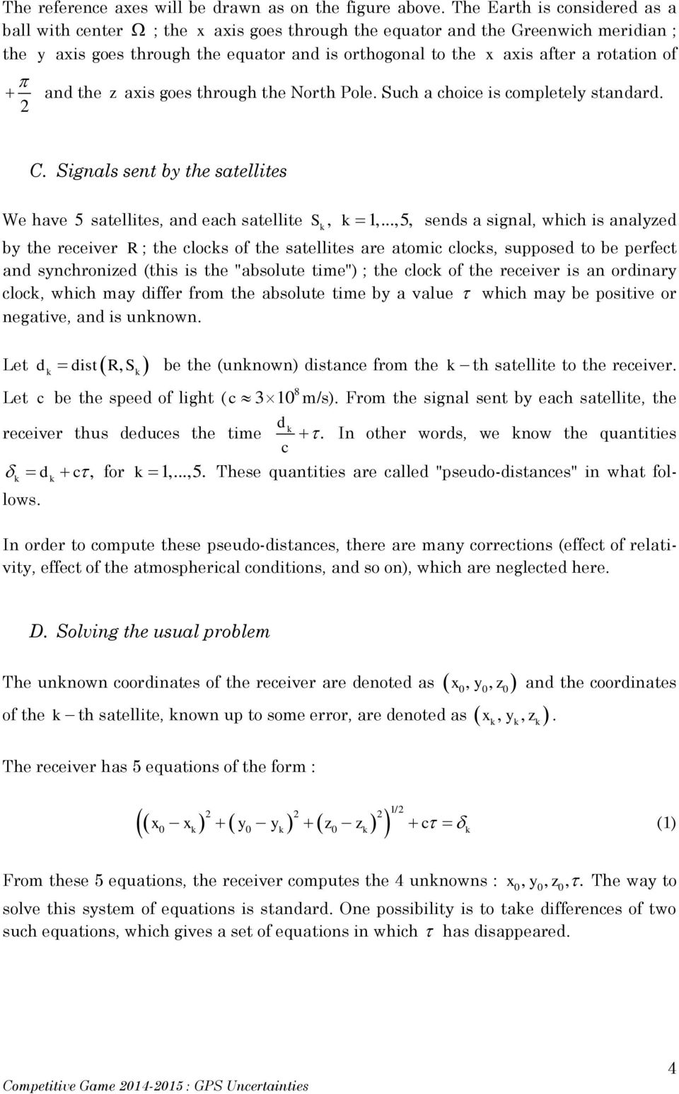 Mathematical Competitive Game Uncertainties in GPS Positioning - PDF