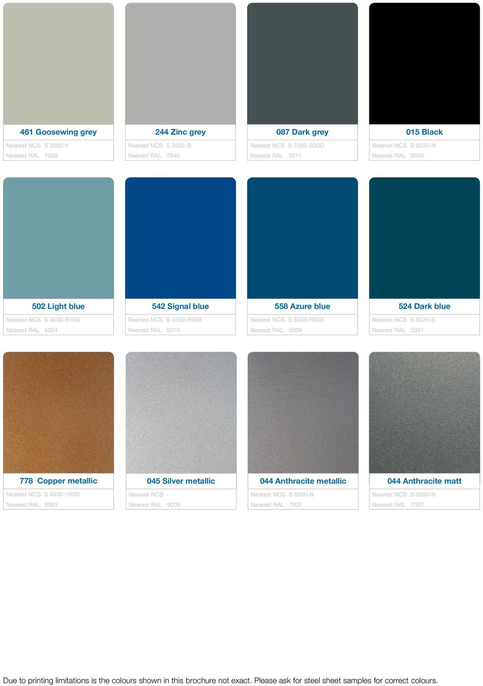 lindab colour chart for every colour under the rainbow pdf. Black Bedroom Furniture Sets. Home Design Ideas