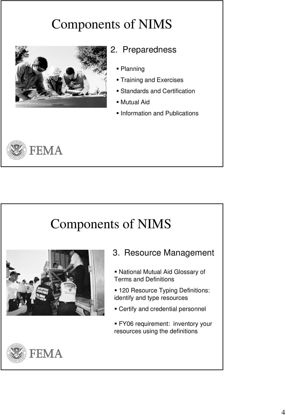 and Publications Components of NIMS 3.