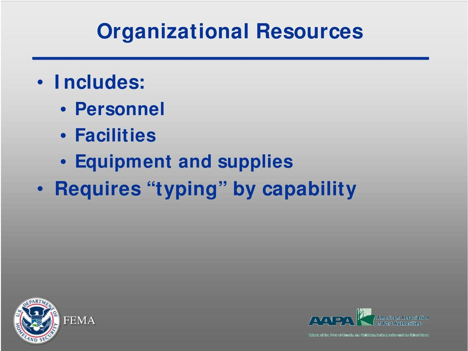 Facilities Equipment and