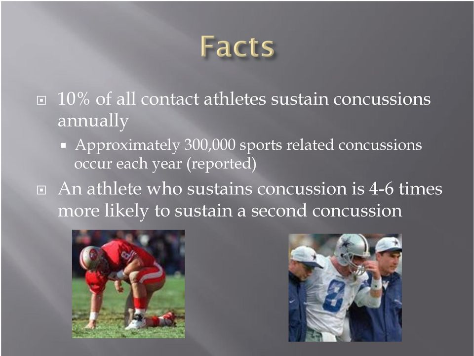 concussions occur each year (reported)!