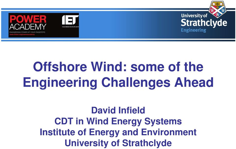 Wind Energy Systems Institute of Energy