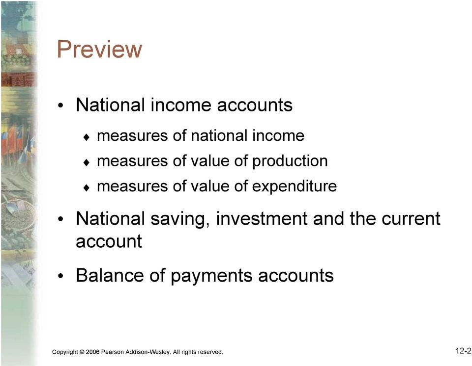 National saving, investment and the current account Balance of