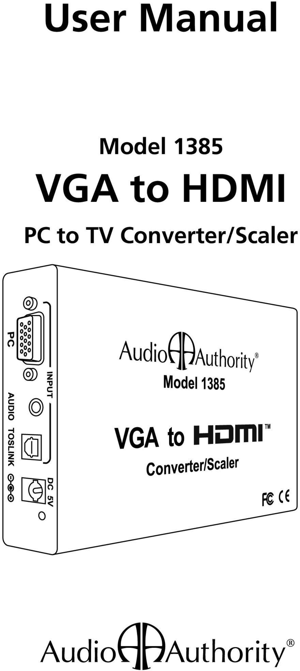 to HDMI PC to