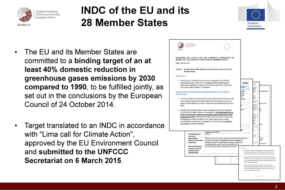 the conclusions by the European Council of 24 October 2014.