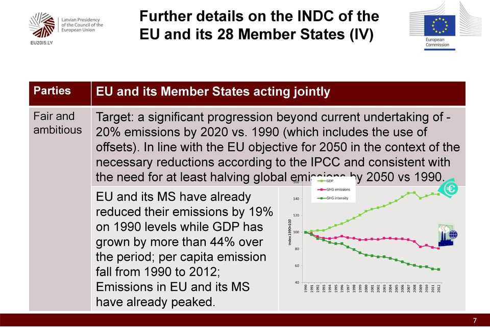 In line with the EU objective for 2050 in the context of the necessary reductions according to the IPCC and consistent with the need for at least halving global