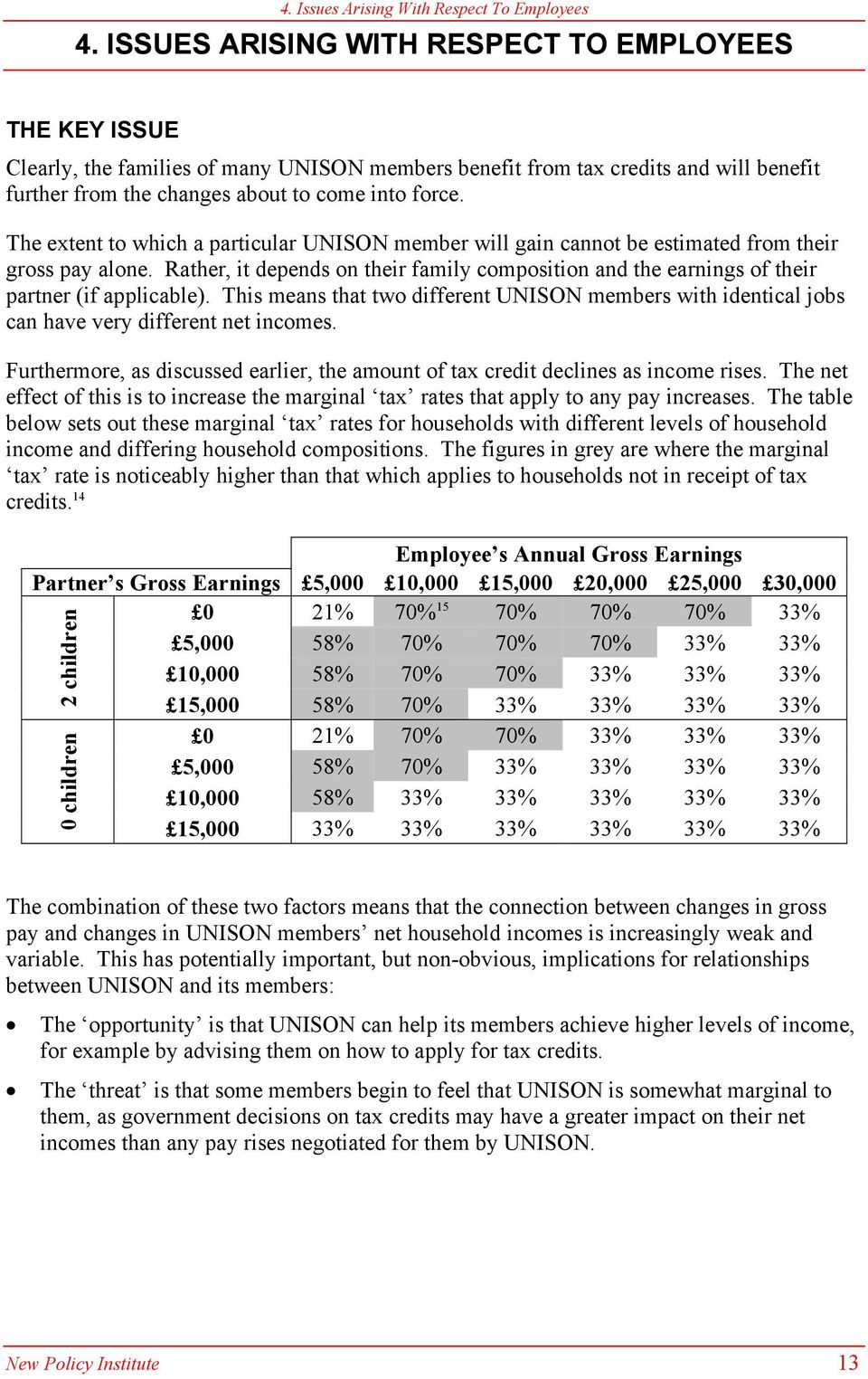 The extent to which a particular UNISON member will gain cannot be estimated from their gross pay alone.