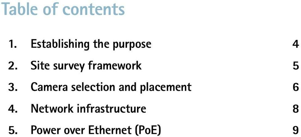 Site survey framework 5 3.