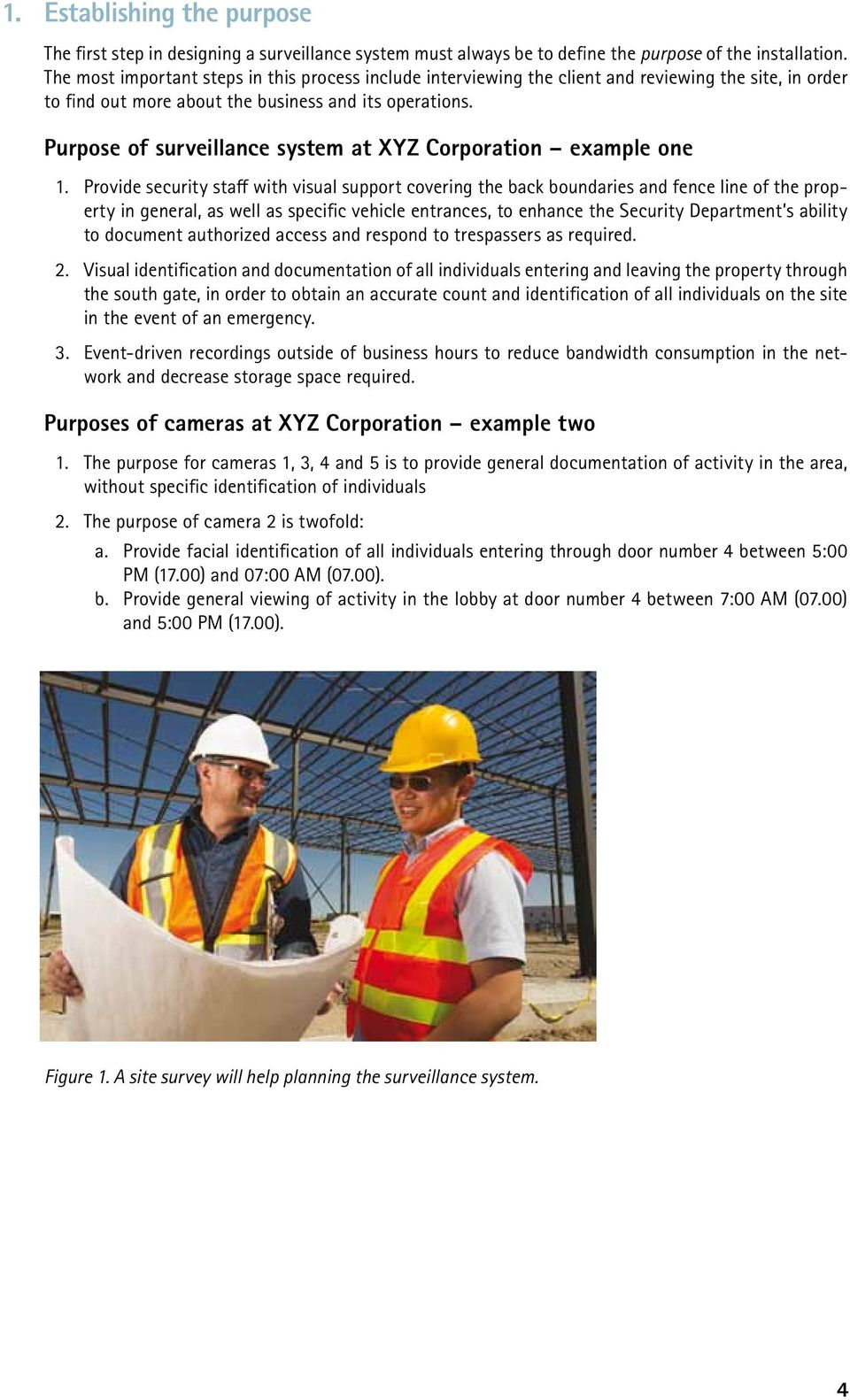 Purpose of surveillance system at XYZ Corporation example one 1.