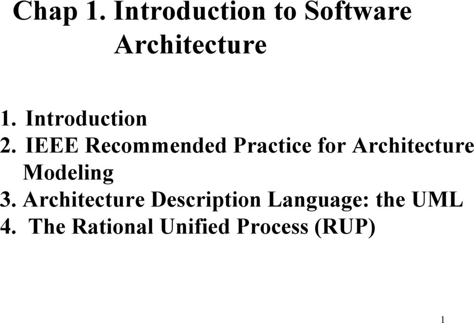 IEEE Recommended Practice for Architecture