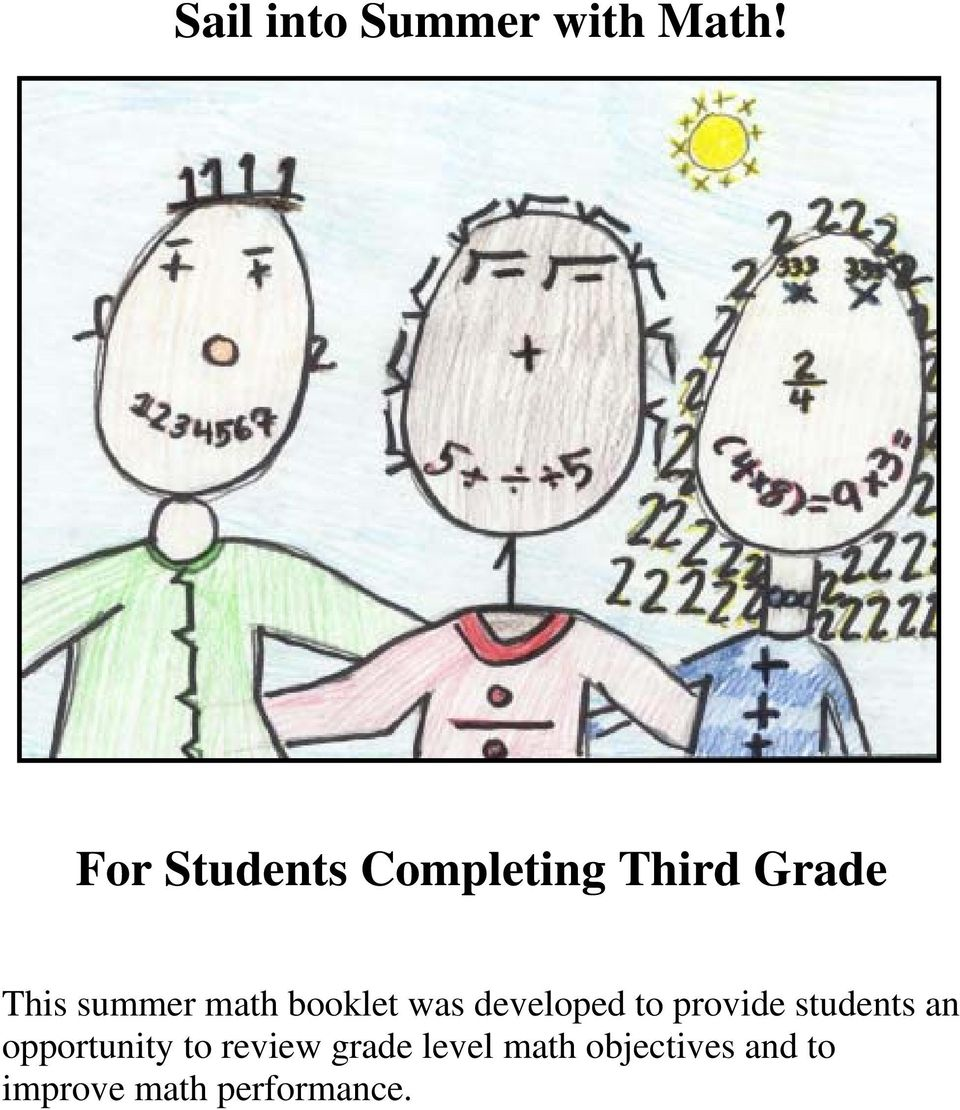 math booklet was developed to provide students an