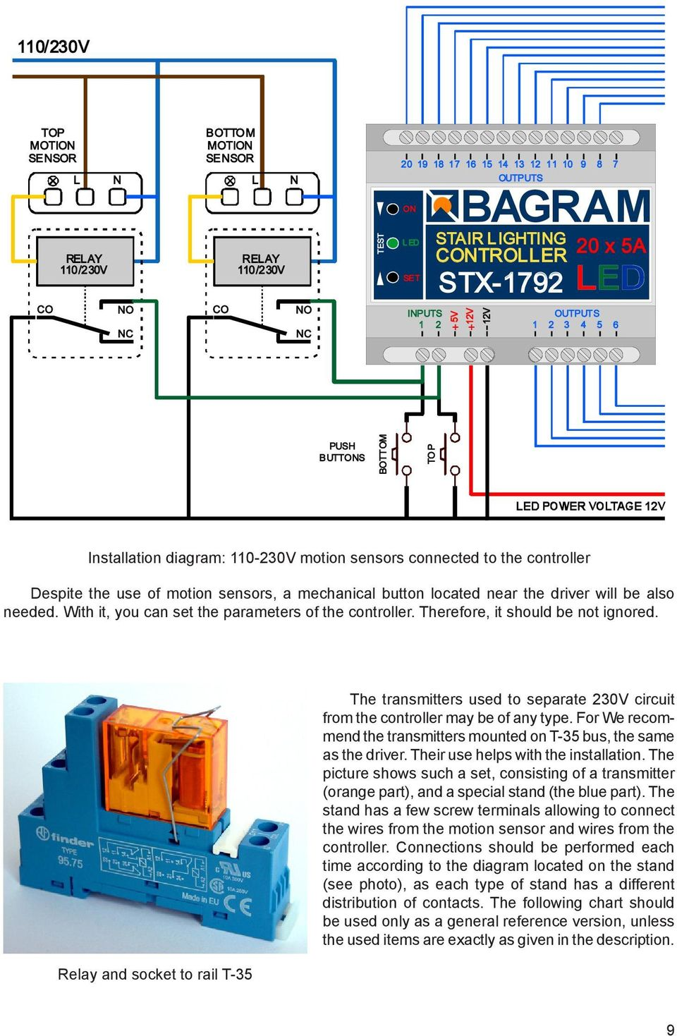 Bagram Stx Stair Lighting Controller Pdf Connecting 781 To Remote Start With Onboard Relays Gm Transponder Pk3 Near The Driver Will Be Also Needed It You Can Set Parameters