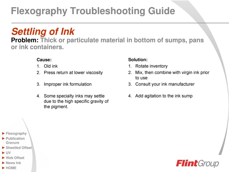 Mix, then combine with virgin ink prior to use 3. Consult your ink manufacturer 4.