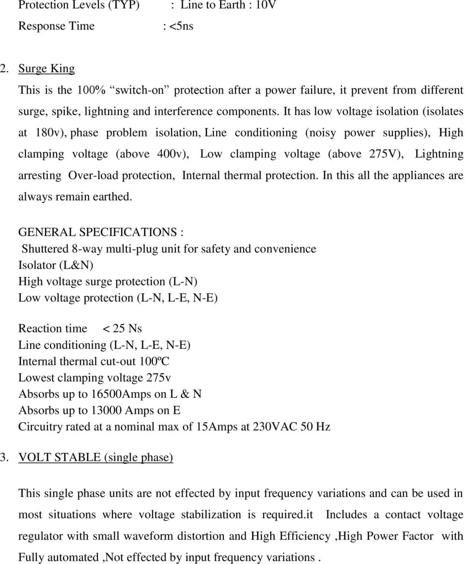 Report On Surge Protection Voltage Fluctuation Pdf High Low Circuit It Has Isolation Isolates At 180v Phase Problem Line