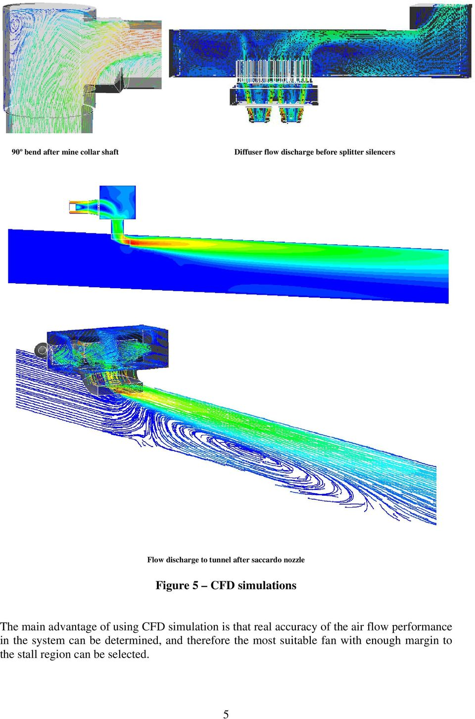 using CFD simulation is that real accuracy of the air flow performance in the system can be