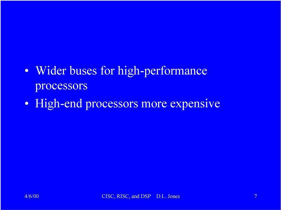 High-end processors more