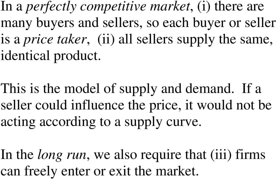 This is the model of supply and demand.