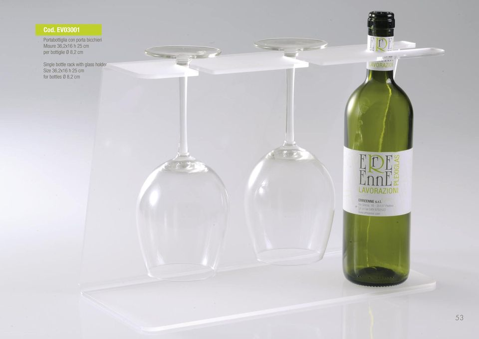 25 cm Single bottle rack with