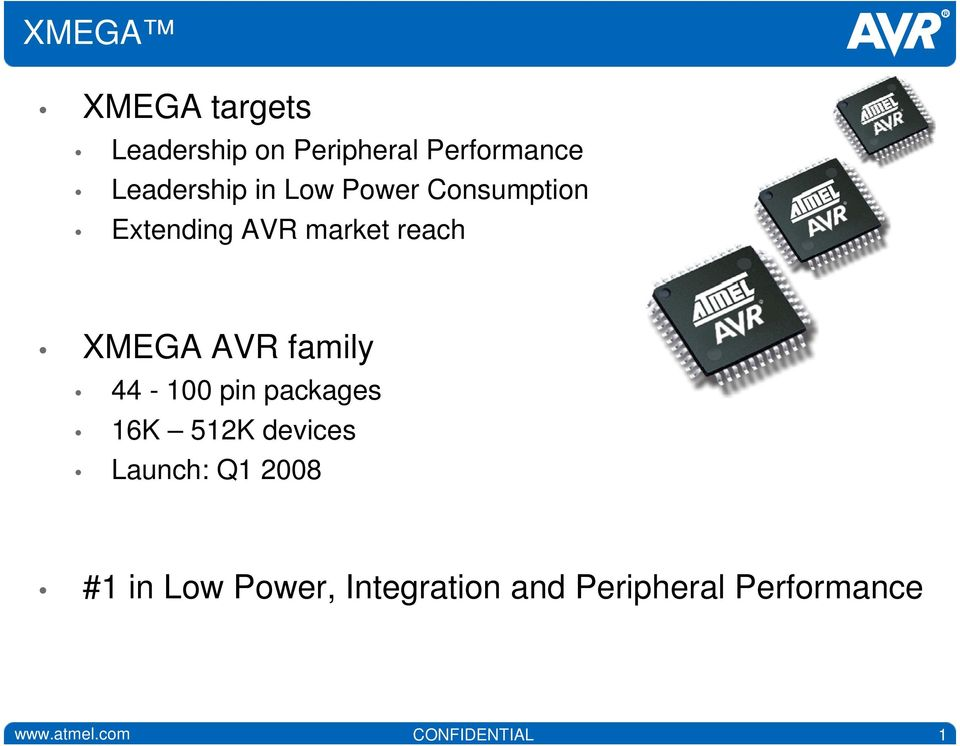 family 44-100 pin packages 16K 51K devices Launch: Q1 008 #1 in Low
