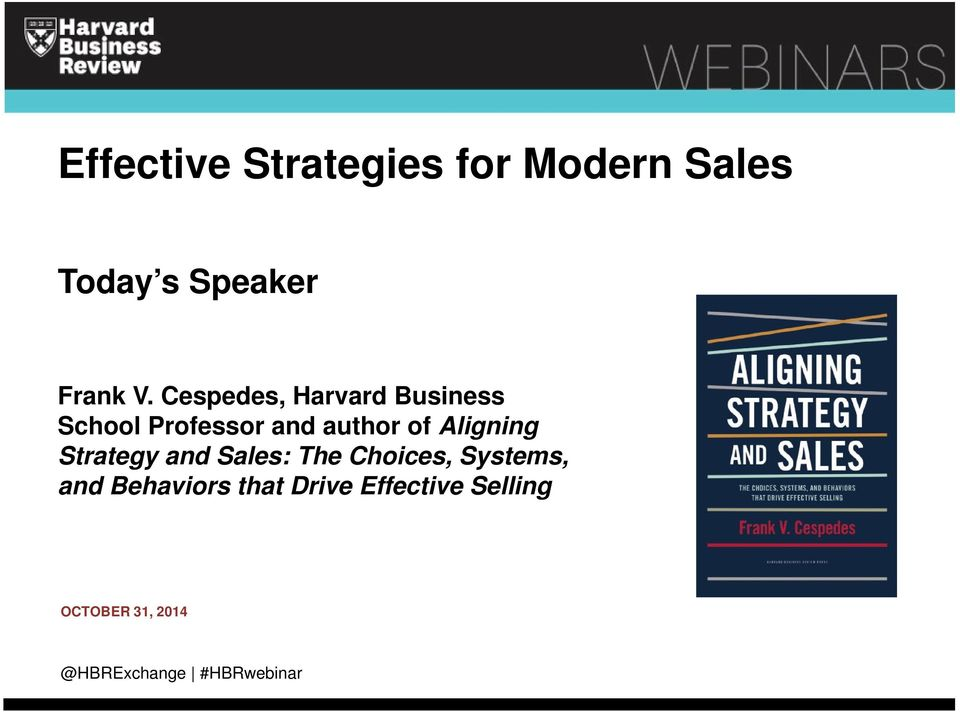 Aligning Strategy and Sales: The Choices, Systems, and