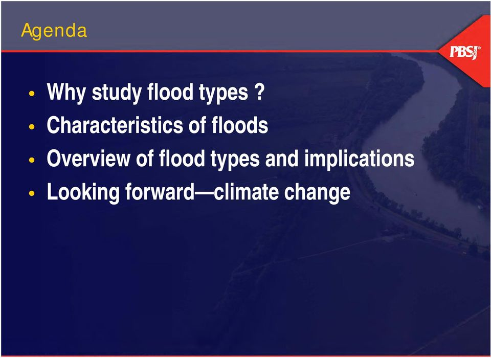 Overview of flood types and