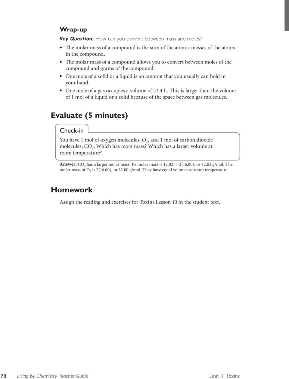 worksheet Molar Volume Worksheet Answers what s in a mole molar mass pdf one of gas occupies volume 22 4 l this is larger than