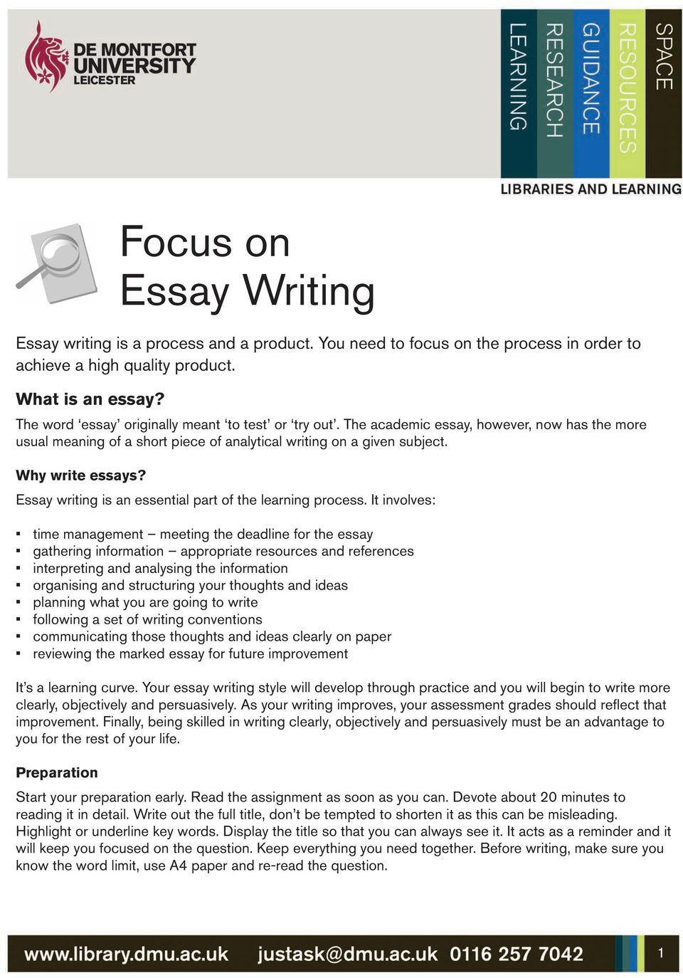 Essay writing is an essential part of the learning process.