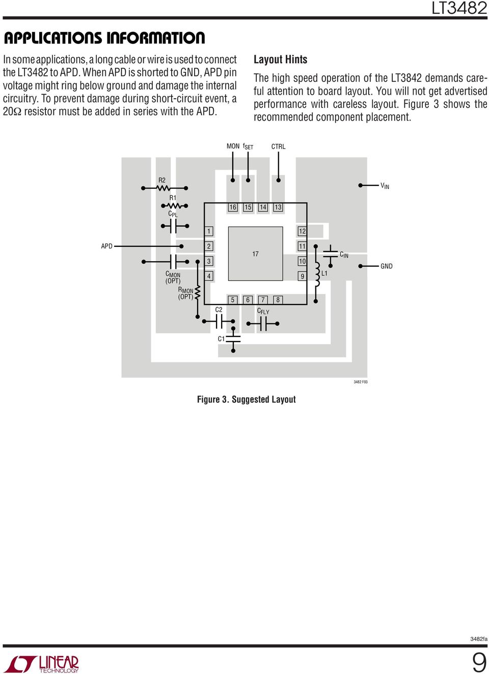 To prevent damage during short-circuit event, a Ω resistor must be added in series with the.