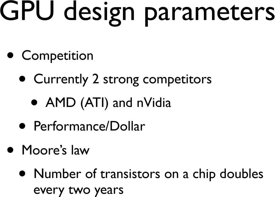and nvidia Performance/Dollar Moore s law