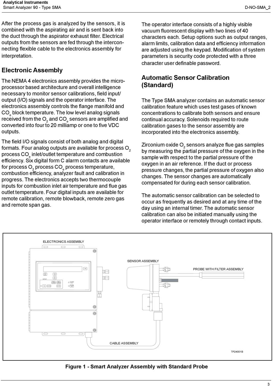 Electronic Assembly The NEMA 4 electronics assembly provides the microprocessor based architecture and overall intelligence necessary to monitor sensor calibrations, field input/ output (I/O) signals