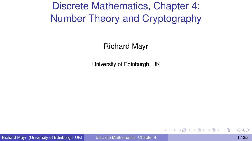 Edinburgh, UK Richard Mayr (University of
