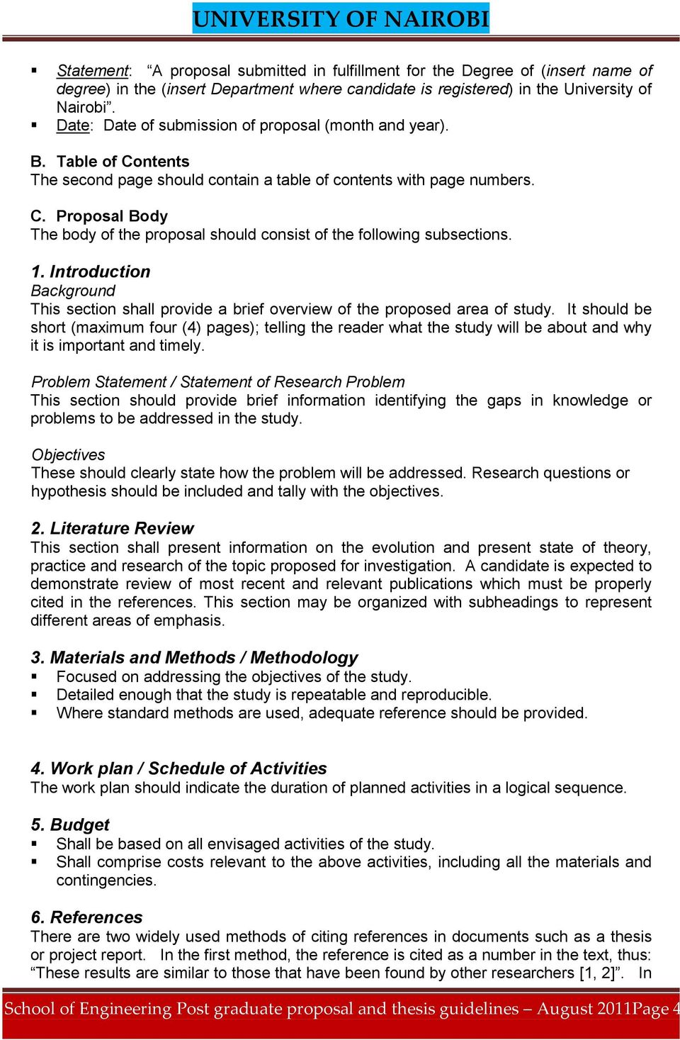 1. Introduction Background This section shall provide a brief overview of the proposed area of study.