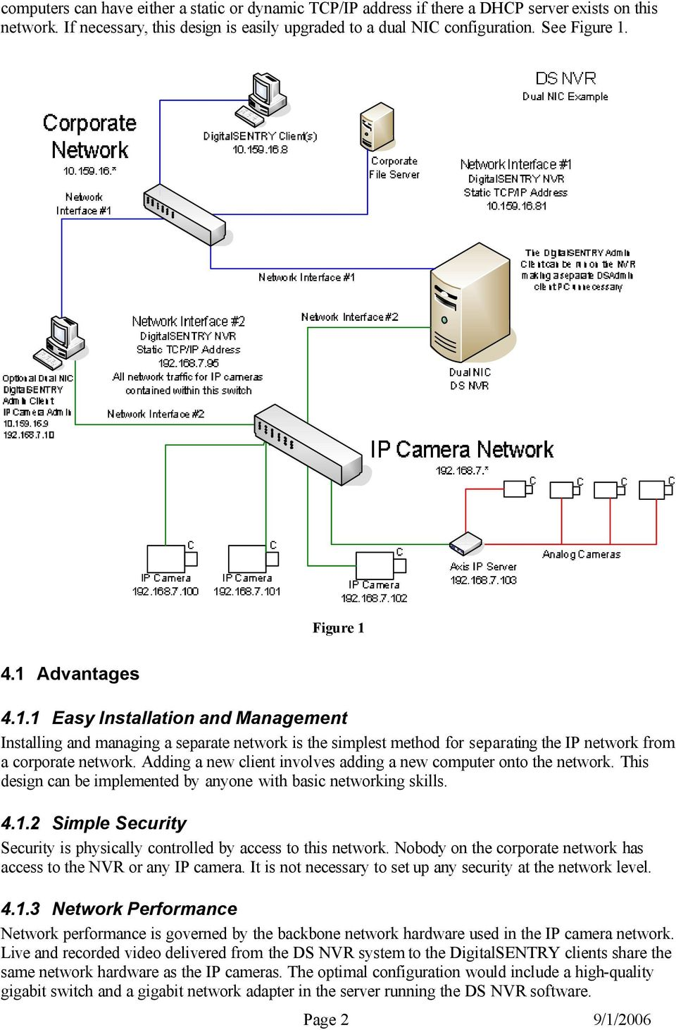 Ds Nvr Prospective Network Configurations Pdf Wiring Diagram Adding A New Client Involves Computer Onto The This Design Can