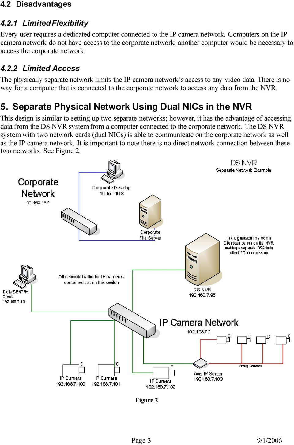 Ds Nvr Prospective Network Configurations Pdf Wiring Diagram Switch 2 Limited Access The Physically Separate Limits Ip Camera S To Any