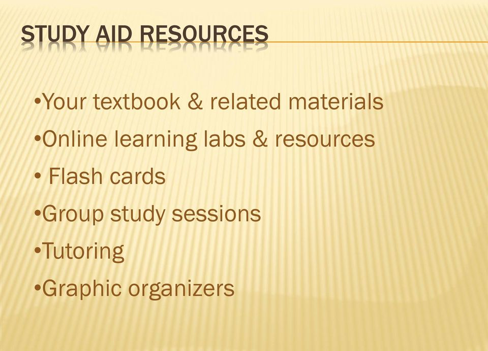 labs & resources Flash cards Group