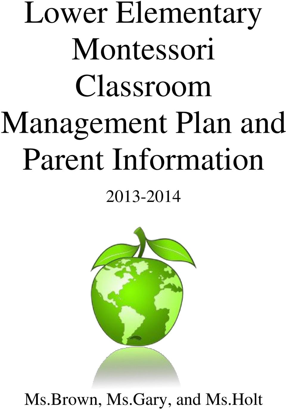 Parent Information 2013-2014