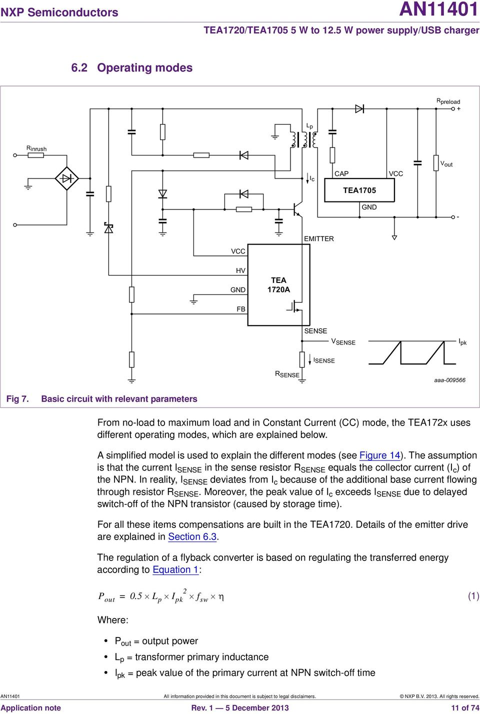 An Tea1720 Tea W To 125 Power Supply Usb Charger Document Negative Voltage Reference Circuit 2 Basiccircuit Diagram In Reality I Sense Deviates From C Because Of The Additional Base Current Flowing