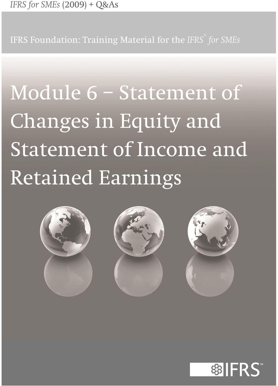 for SMEs Module 6 Statement of Changes in