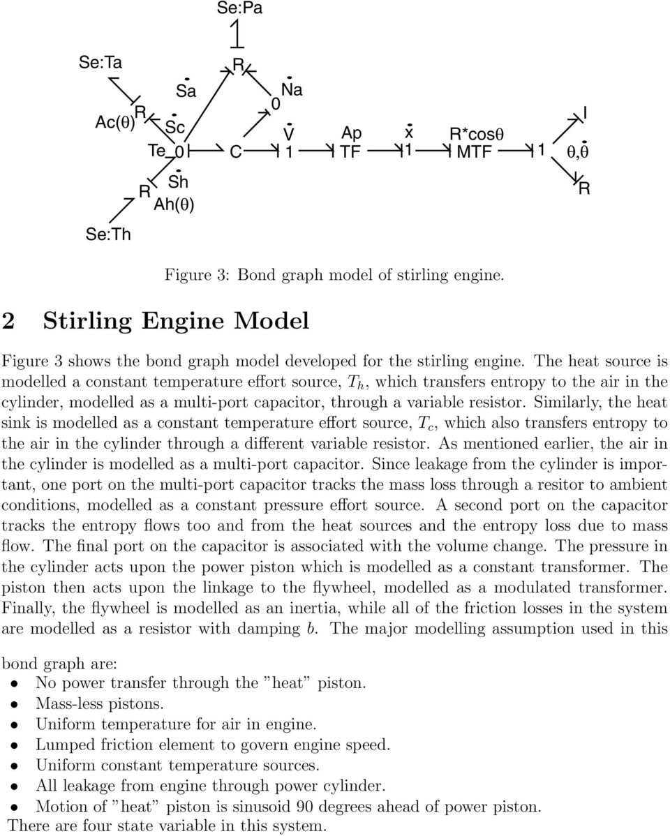 Stirling Engine Marten Byl 12 02 Pdf Diagram The Heat Source Is Modelled A Constant Temperature Effort T H Which Transfers