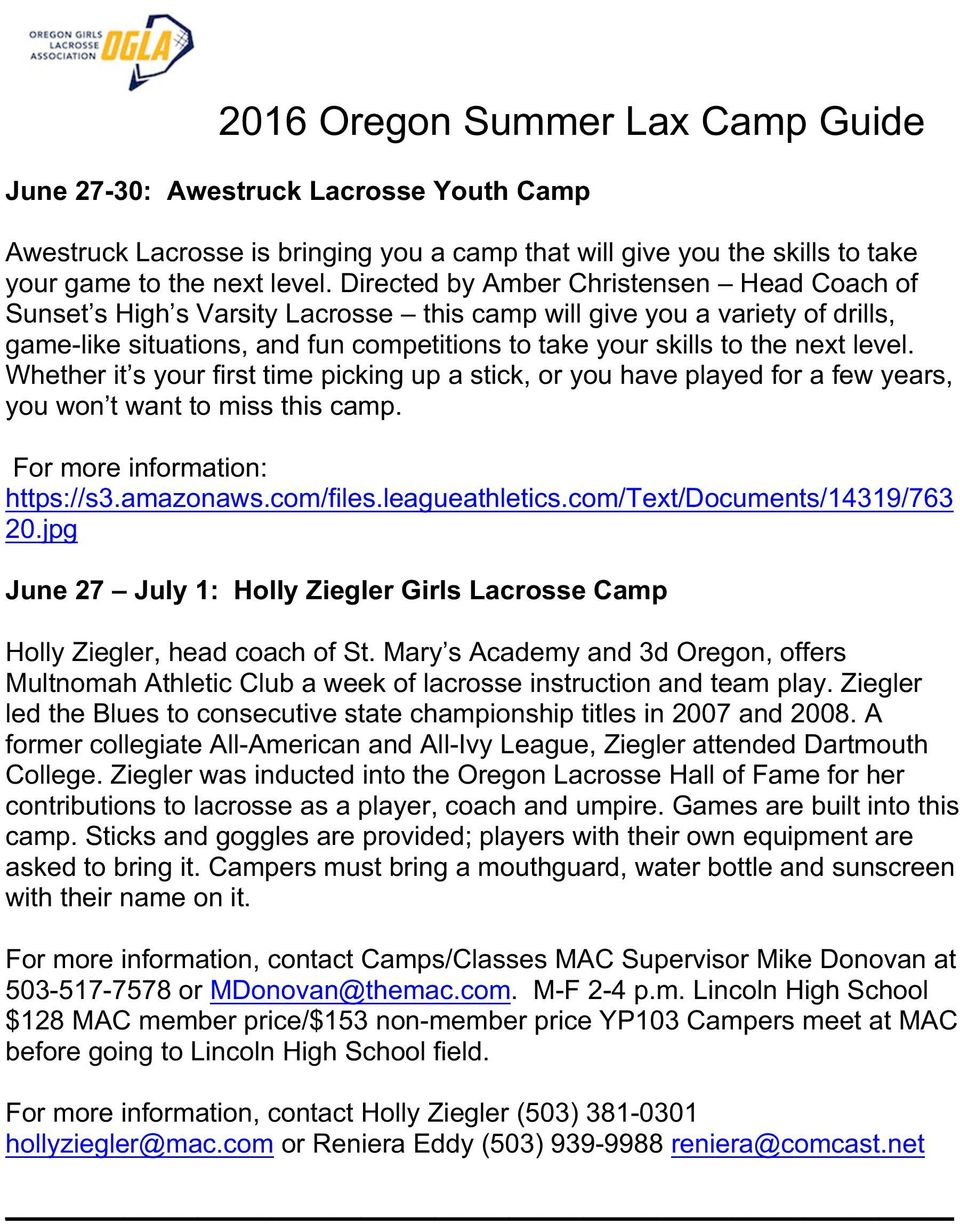 level. Whether it s your first time picking up a stick, or you have played for a few years, you won t want to miss this camp. https://s3.amazonaws.com/files.leagueathletics.