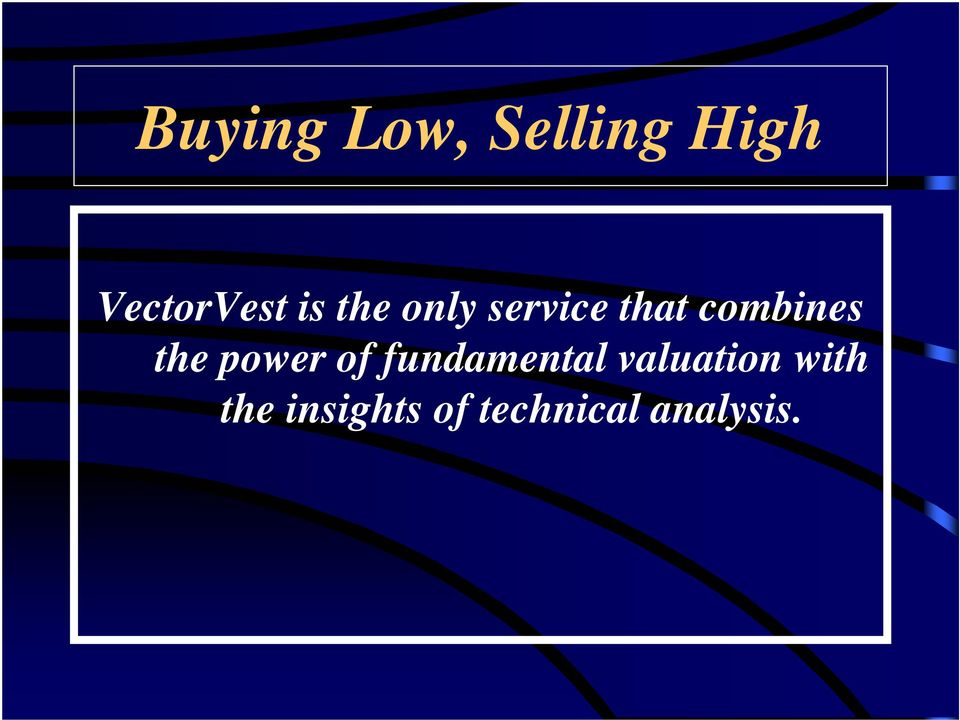 the power of fundamental valuation